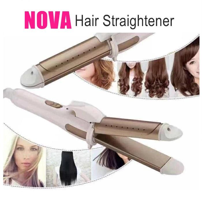 💥New💥 Pelurus Rambut Nova 2 in 1 Hair Straightener and Curler Professional Iron