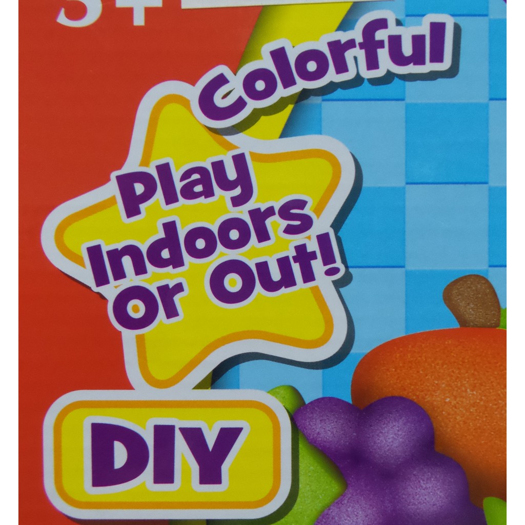 Play Sand DIY Educational Kit, Sand with Fruit Moulds Kids Toy