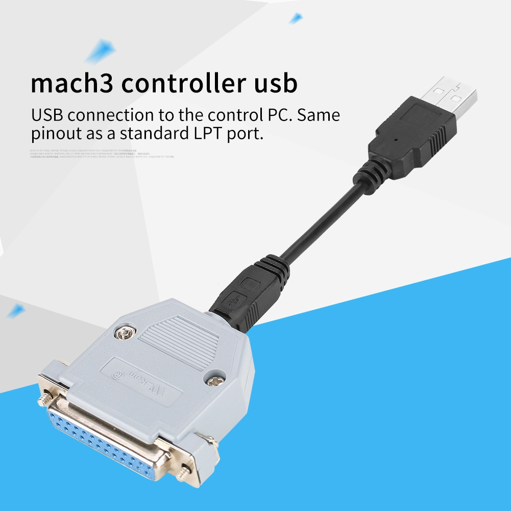 CNC USB Controller to Parallel Adapter Stepper Motion Controller UC100 for  Mach3