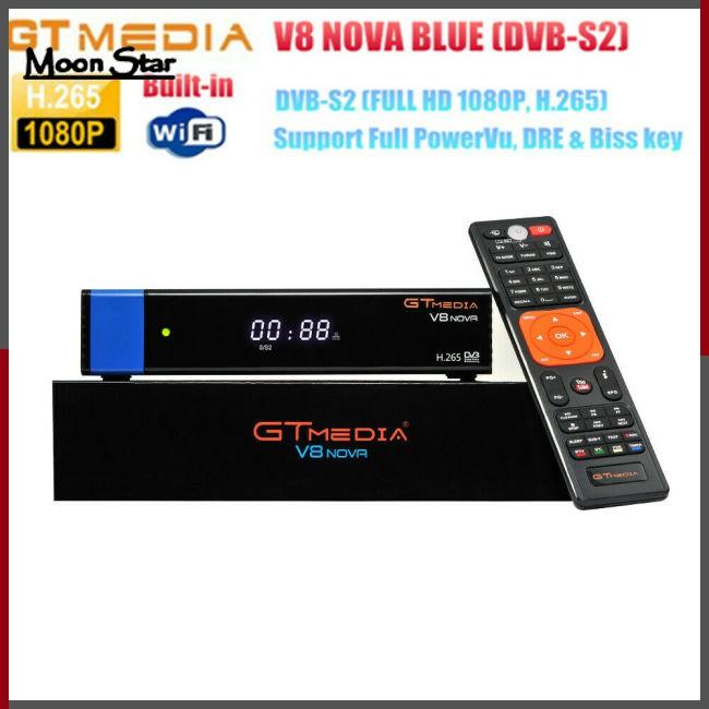 GTMEDIA V8 NOVA HD 1080P DVB-S2 TV Receiver Support PowerVu,Biss key H 265
