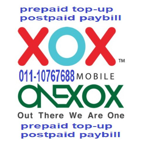 xox onexox prepaid reload topup top-up postpaid paybill