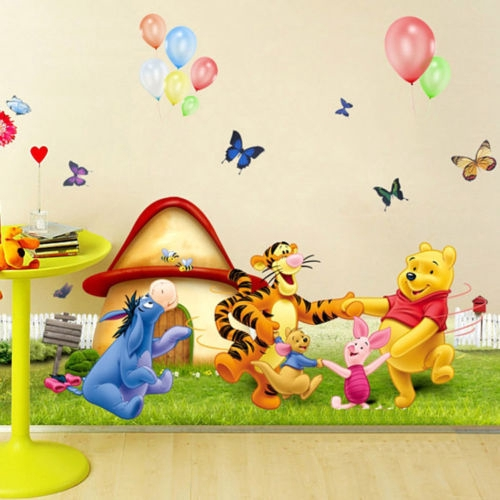 Winnie the Pooh Nursery Room Wall Decal Sticker For Kids Baby Bedroom Wall  Decor