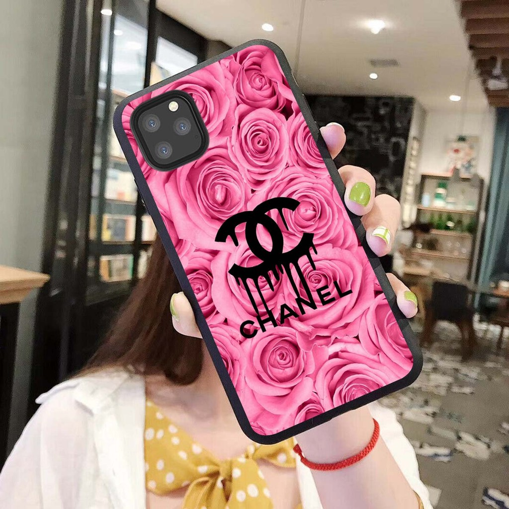 Chanel Rose Logo Armor Phone Accessories Fits Iphone 5S 6/7/8Plus XS 11Pro
