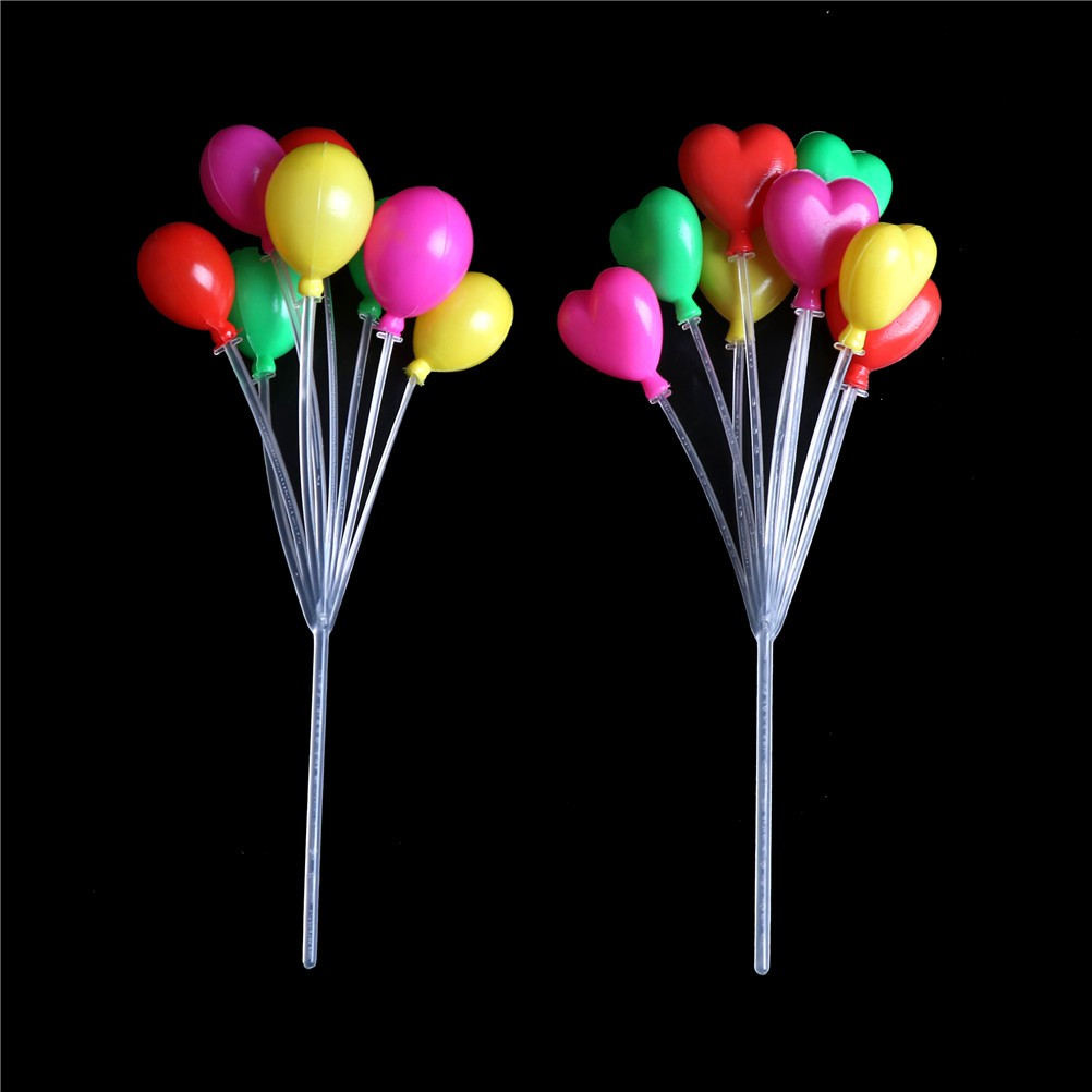 Dollhoe Miniature Scale 1:12 Living Room Plastic Multicolor Balloon String Toy/&
