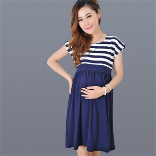 Maternity Leopard Print Breastfeeding Dress Pregnant Women 3//4 Sleeve Milk Silk Nursing Clothing
