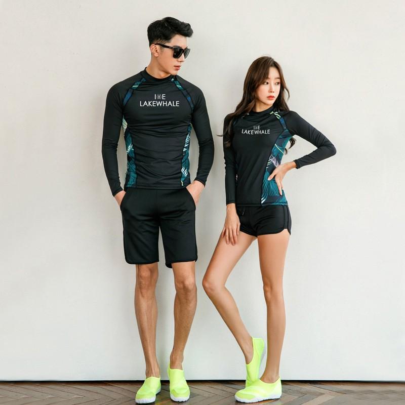 8261e3d6cdabe ProductImage. ProductImage. Women/Men Swimwear Korean Fashion Diving Wear  Couple Swimming Suit ...