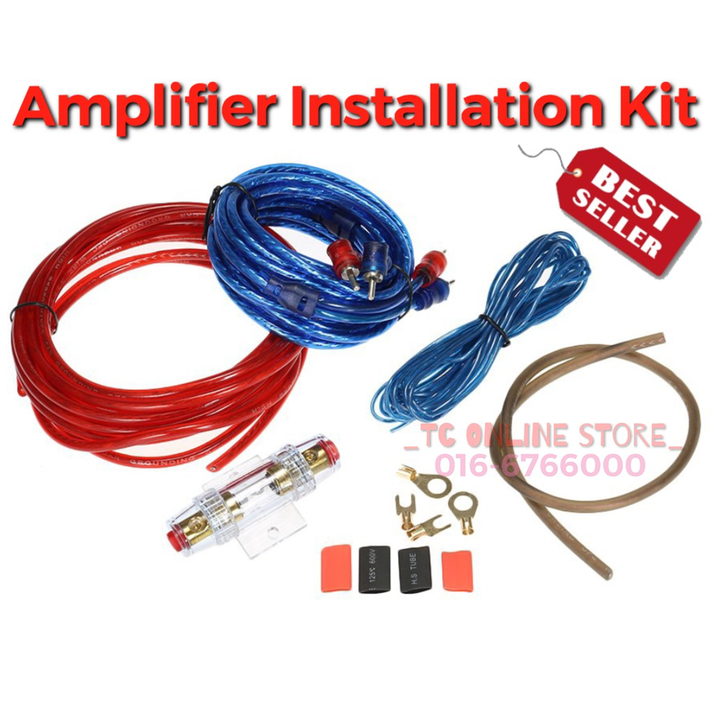 2CH Amp Car Amplifier Wiring Kit Full Complete Set With Fuse Holder Amp Wiring Kits on pt cruiser car kit, amp cable, amp installation kit, car amp kit, amp connectors, amp wire kit, amp install kit,
