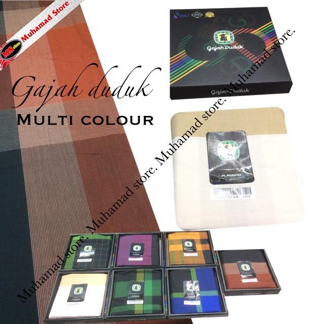 Muhamad Store Gajah Duduk Multi Colour Pilihan