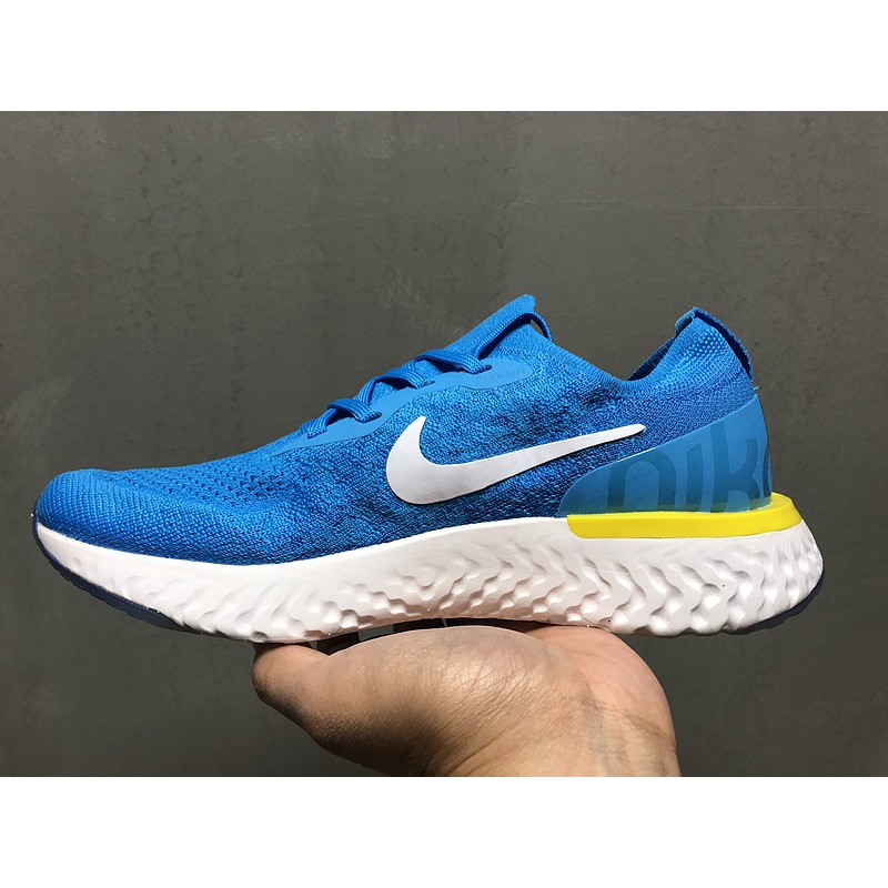 newest 267fb bd63a Nike Epic React Flyknit Sky Blue Sport Shoes Paddy Running Shoes Size:36-45