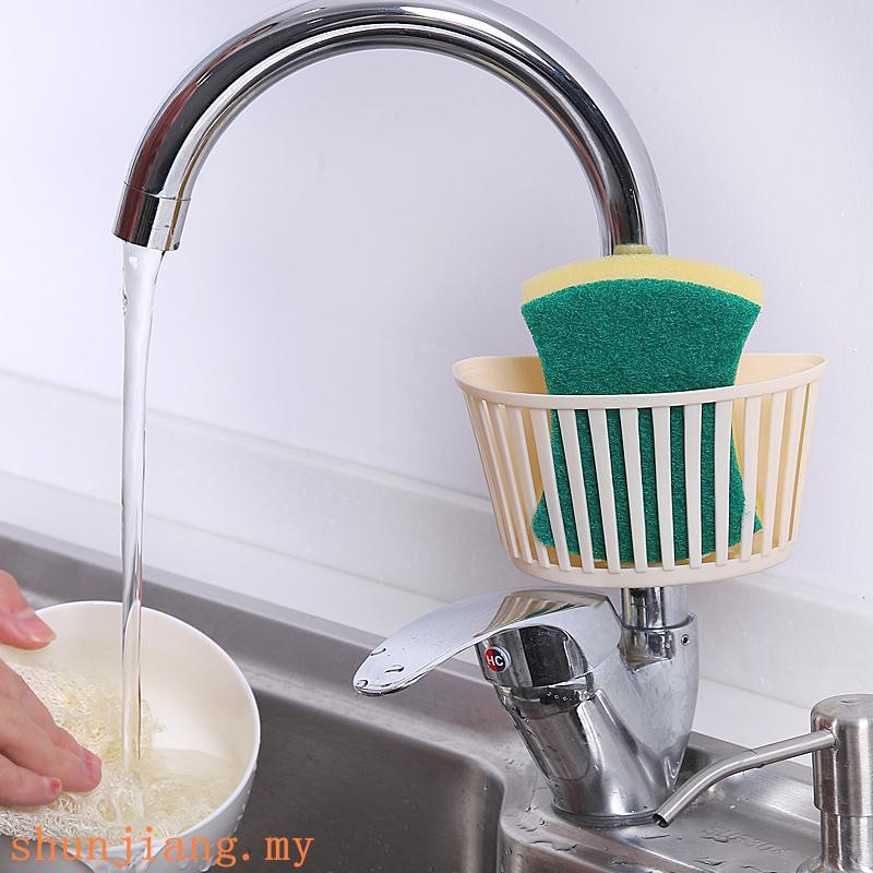 Kitchen supplies, haberdashery, sponge, drain, pool, plastic storage rack,  sink,