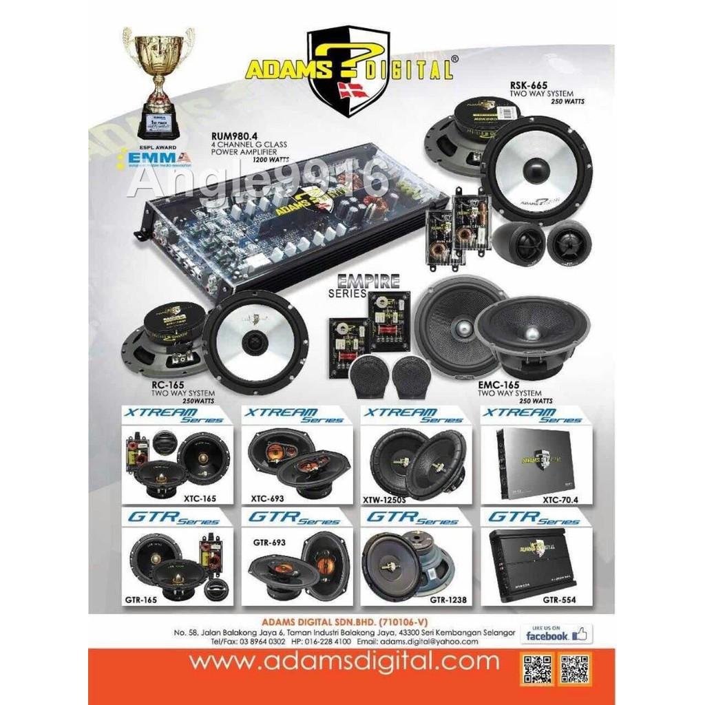 Adams Digital Rum 9804 Rubi Series 4 Channel G Class Power Mb Quart Premium Amplifiers Car Audio System Amplifier Shopee Malaysia