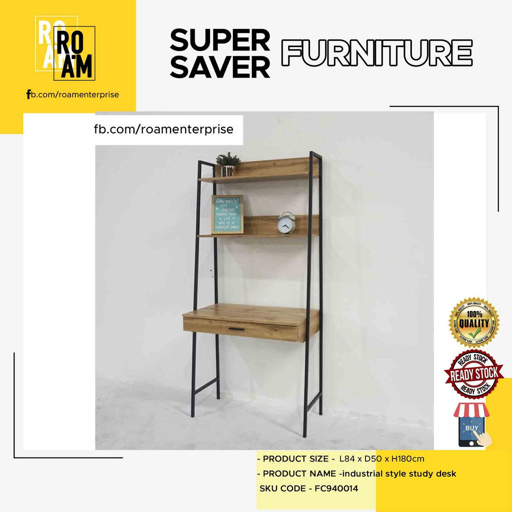 NORMAD industrial design study desk with drawer FC940014