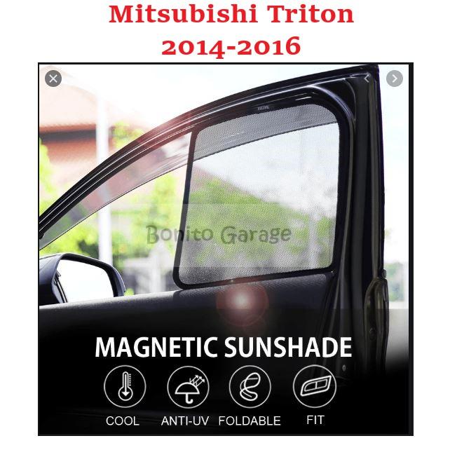 Magnetic Sunshade Mitsubishi Triton 2014-2016 4pcs