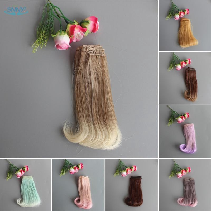 15cm Straight Hair Wig Hairpiece For 1//3 1//4 1//6 BJD Doll DIY Pink /& Black