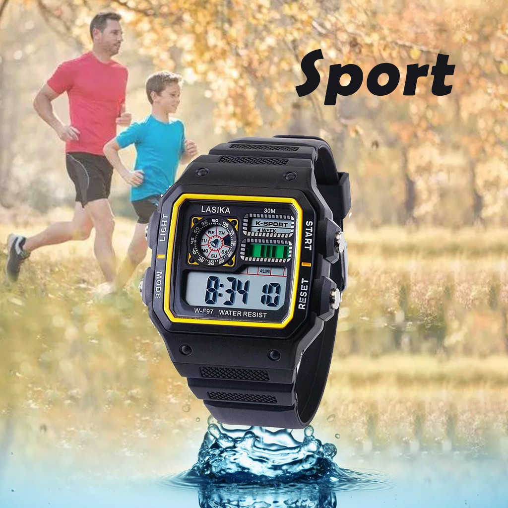 Multifunctional Sports And Leisure Watch Square Fashion Wild Electronic Watch