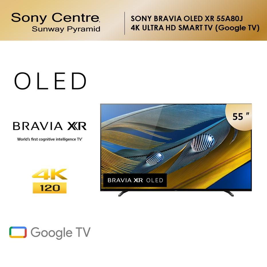 "SONY 55"" BRAVIA XR A80J OLED 4K Ultra HD High Dynamic Range HDR Smart TV Google TV (55"") XR-55A80J"