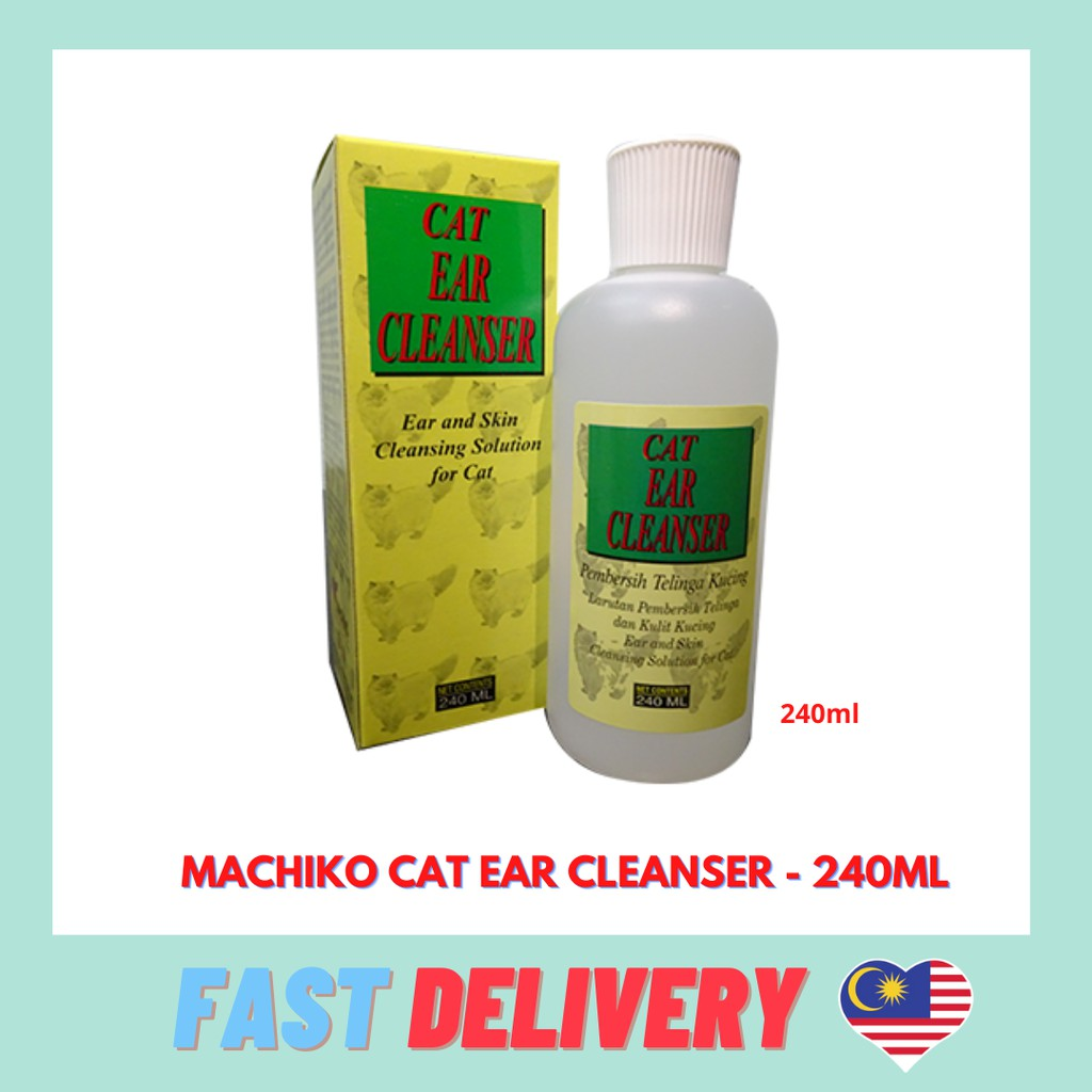 Dinos  Machiko Cat Ear Cleanser Pembersih Telinga Kucing 240ml