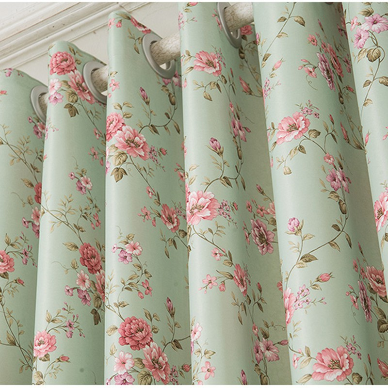 Floral Blackout Window Curtains For Living Room Modern Kitchen Curtain Drapes Shopee Malaysia