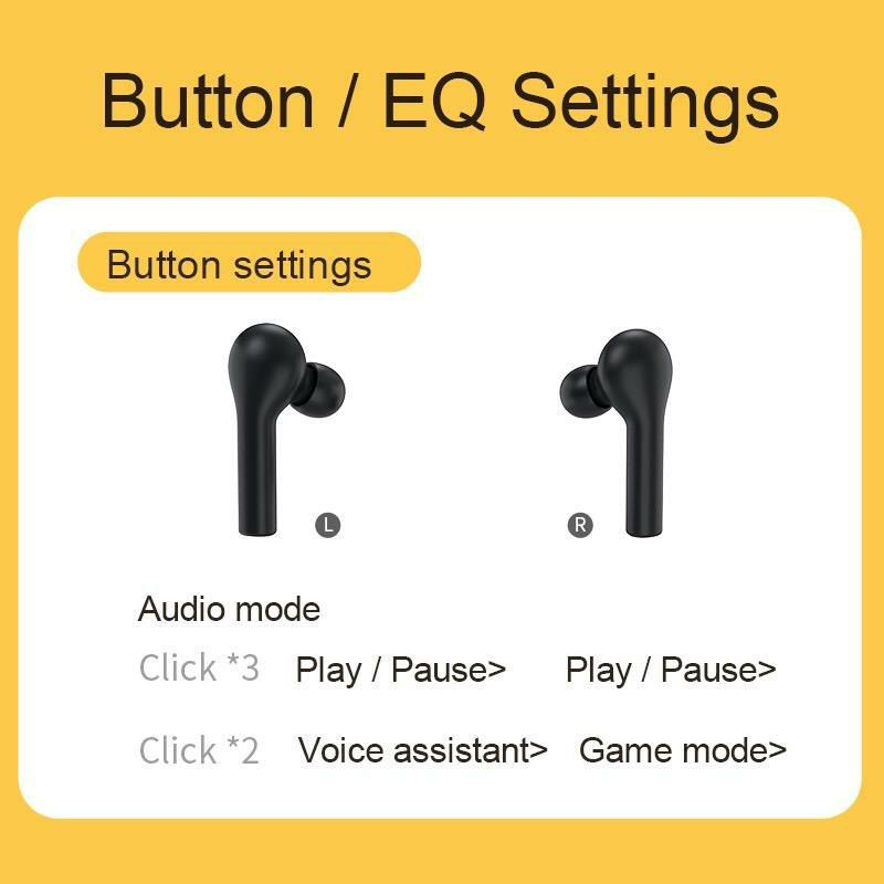 QCY T5/T5S BLUETOOTH 5.0 WIRELESS EARPHONE NOISE CANCELLING TWS EARBUDS WITH MIC GAMING EARPHONE LOW LATENCY EARPHONE