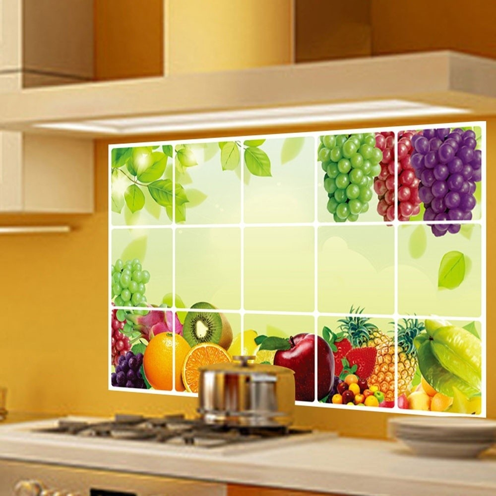 Home Bathroom Kitchen Wall Decor 3D Stickers Backsplash Wallpaper ...