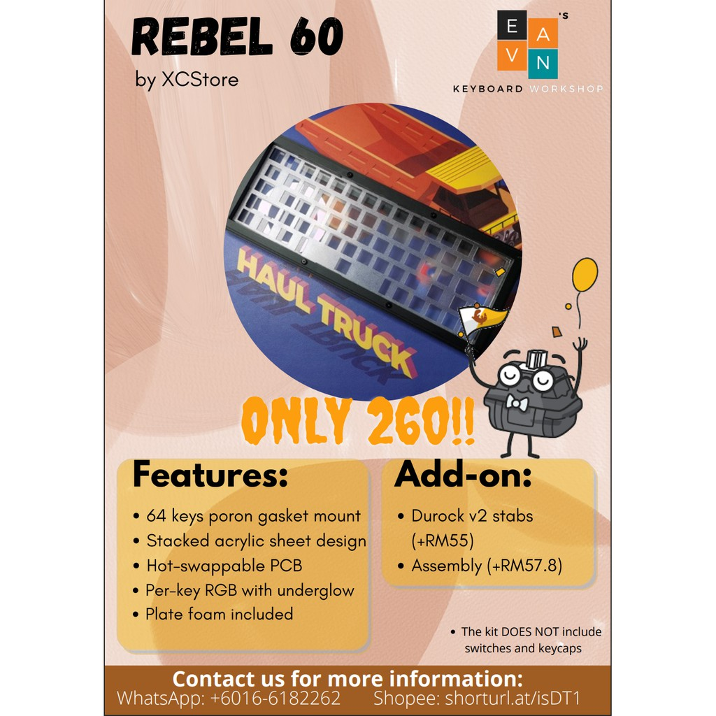 Rebel 200v20 keyboard kit   Shopee Malaysia