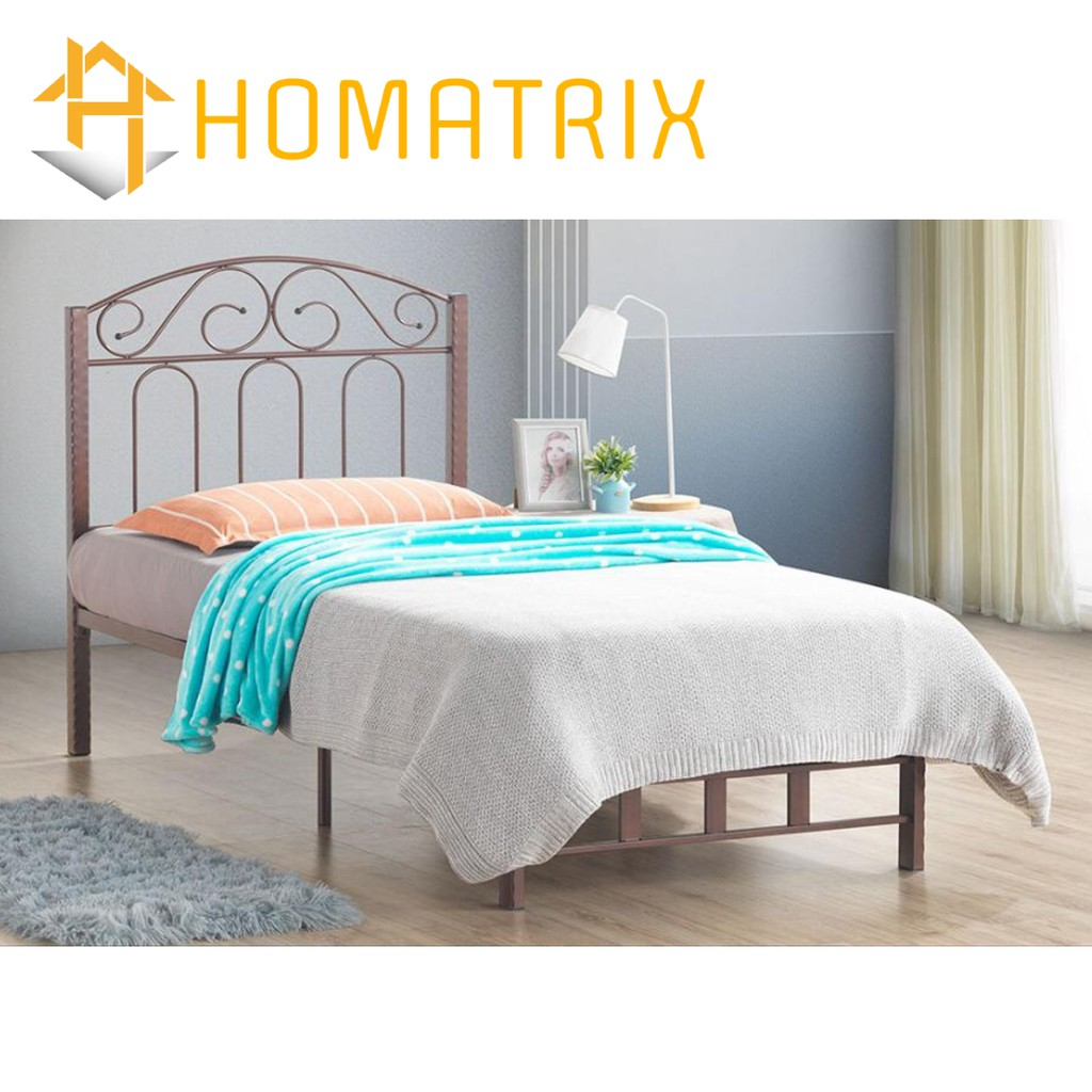 Single Metal Bed Frame Modern Simple Nordic Minimalist Design Katil Besi No Tilam 305 Homatrix Shopee Malaysia