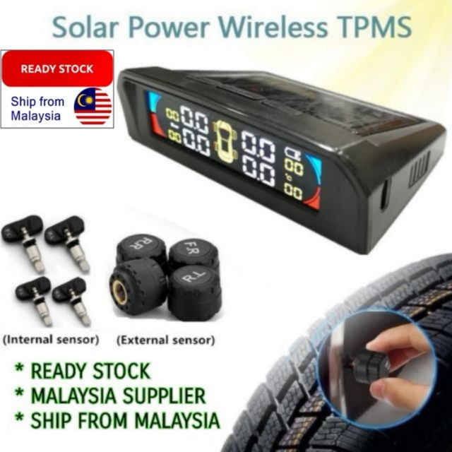 OSOM TPMS With Multi Color Screen Tire Pressure Monitor System Solar  Wireless LED Display