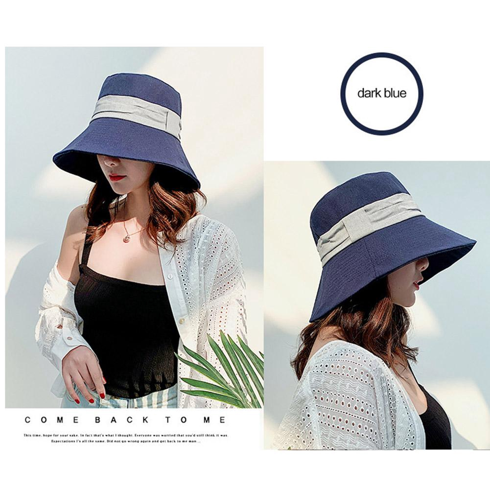 16236e74 Fashion Women Summer Casual Sun Shading Double-sided Wear Cotton Linen  Beach Hat | Shopee Malaysia