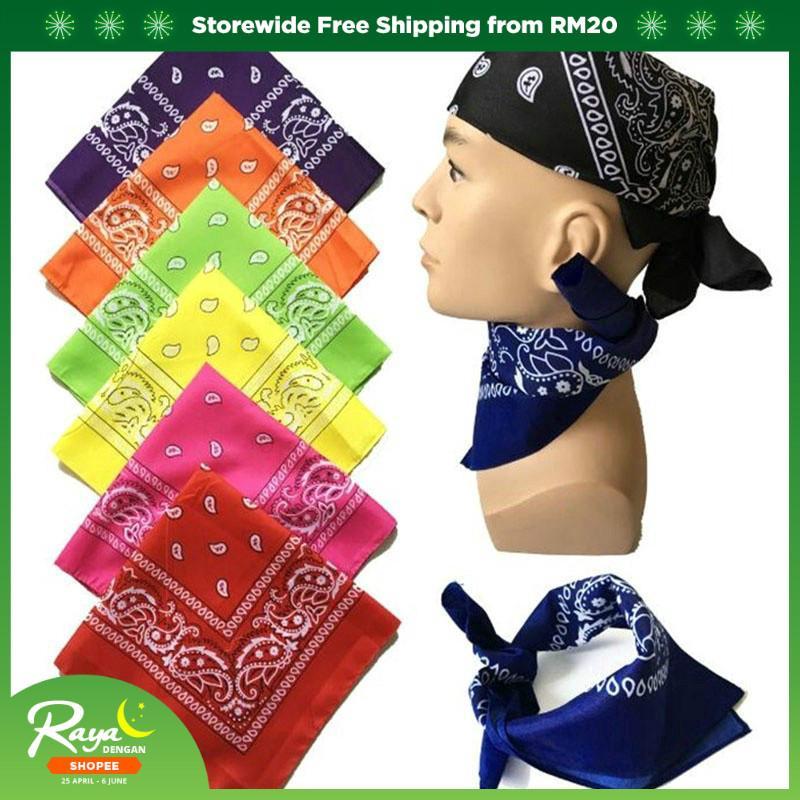 100/% Cotton Paisley Pattern Bandana Head Band BnD Neck Scarf Neckerchief