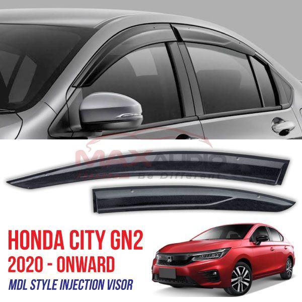 [FREE Gift] HONDA CITY GN2 2020 - Onward MDL Style Premium Aerodynamic Smoke Black Injection Acrylic Door Visor (1set/4pcs)
