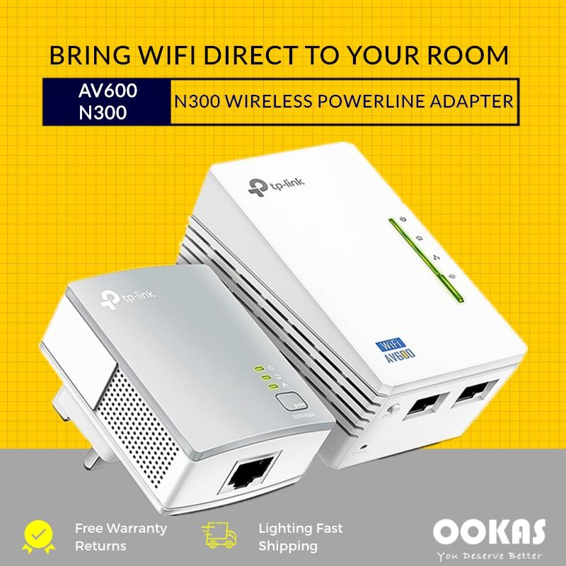 TP-Link TL-WPA4220KIT AV600 300Mbps WiFi Powerline Range Extender Kit