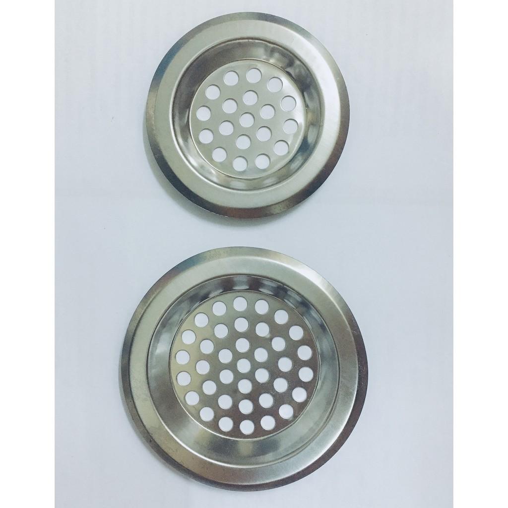 Stainless Steel Dish Basin Sink Strainer Kitchen Sink Filter Bathroom Prevent Blockage Hair Catcher Floor Cover 2PCS