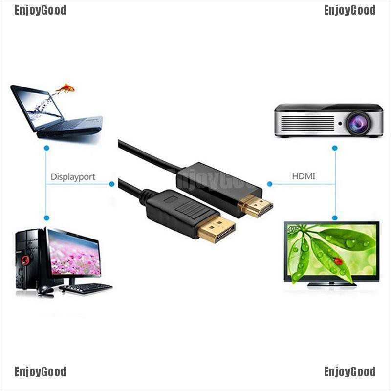 {ENJOY} DisplayPort DP to HDMI Male to Male Display Port Cable Cord Adapter  Converter{CC}