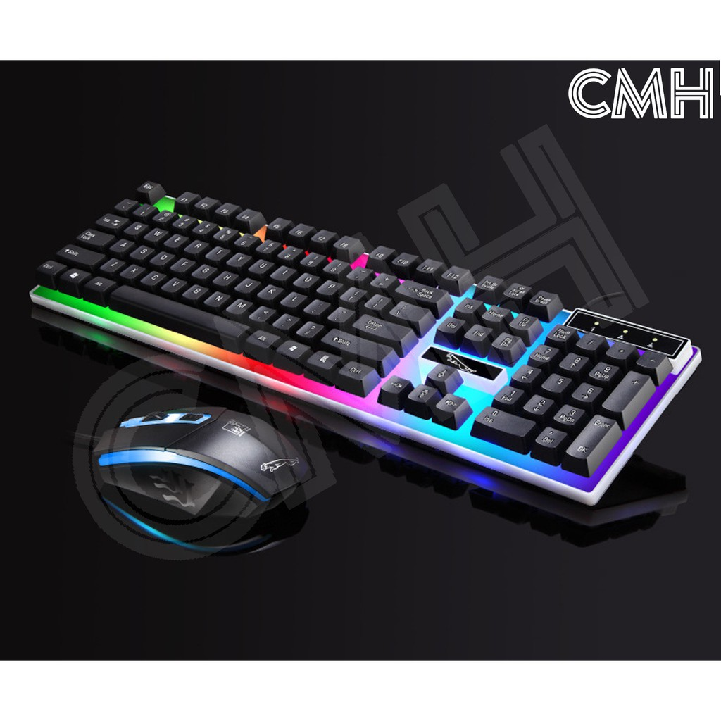 Computer Desktop Gaming Multimedia Keyboard Mechanical Feel Led Light Backlit