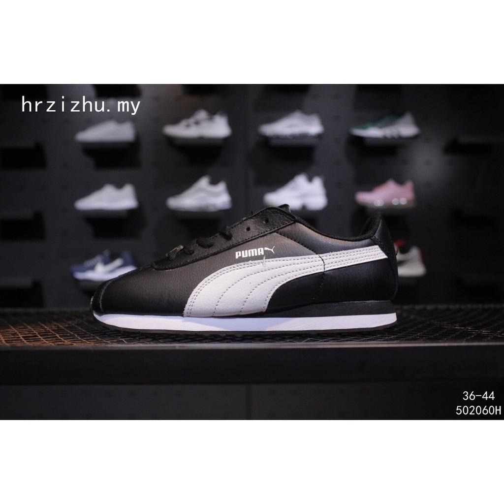 b1ec071c456 x Puma Turin Comfortable Women's shoes Men's sports Black Retro Runner shoes