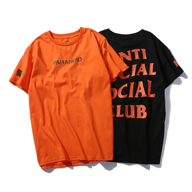 27cb1e78182f6 ASSC X Undefeated Paranoid Tee Graphic Shirt Tide Brand Kanye Kanye Letters