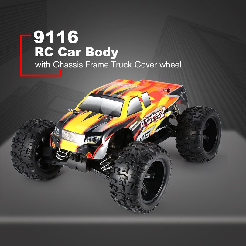 ZD Racing 9116 1/8 Scale Bigfoot RC Car Body Chassis Frame Truck Shell Cover