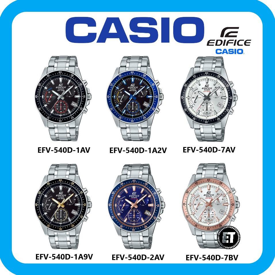 2 Years Warranty Casio Original Edifice Efr 547l 1av Chronograph 540d Mens Watch Shopee Malaysia