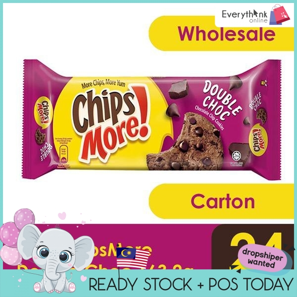 READY STOCK CHIPSMORE 163.2g -ORIGINAL/DOUBLE CHOCOLATE 24PACKETS