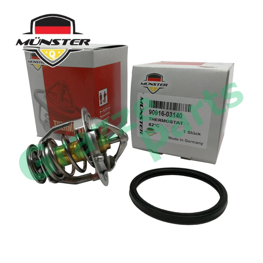 Münster Coolant Thermostat + Sealing Ring for 90916-03140 Estima Vellfire 3.5cc