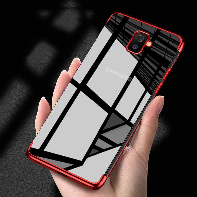 buy online 47e90 1320f Waterproof TPU For Samsung Galaxy A6 2018 A6 Plus 2018 Transparent Phone  Cover