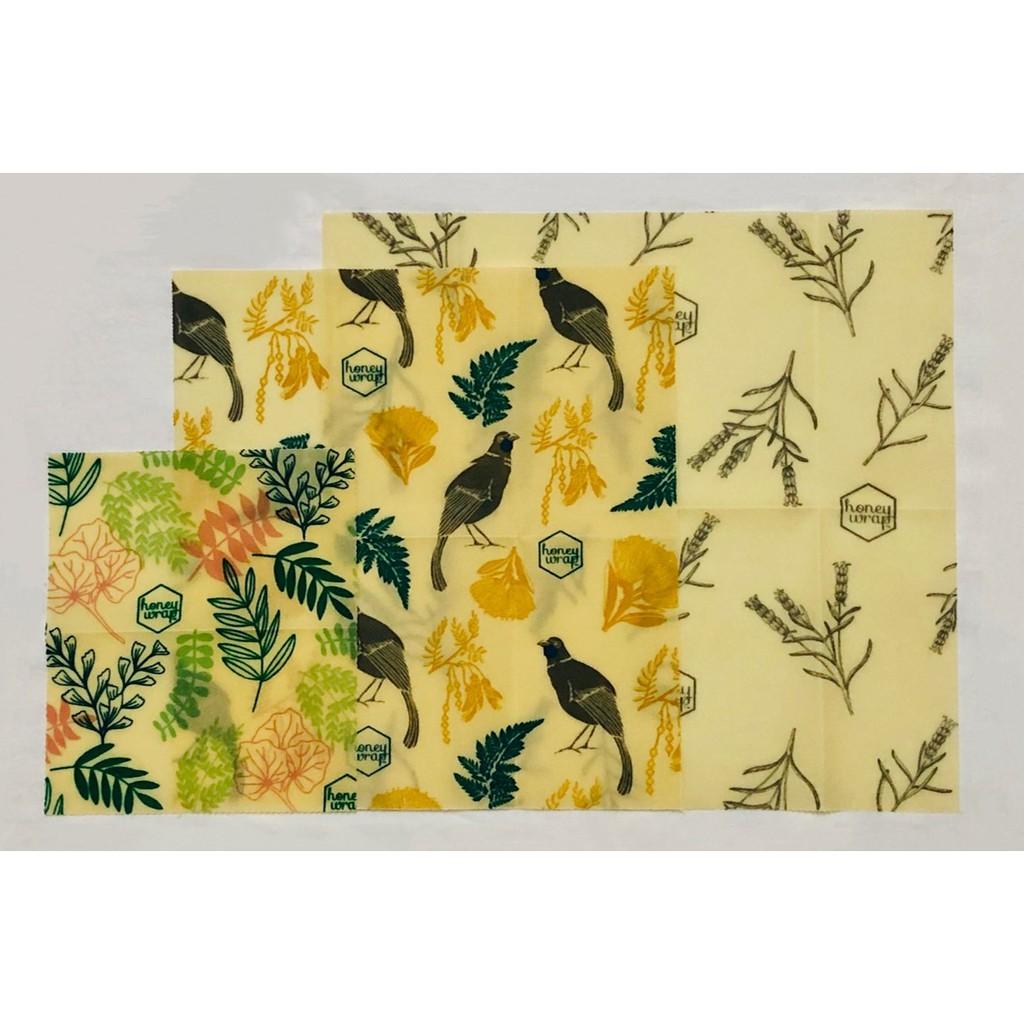 Honeywrap Beeswax - Size S,M,L 3Pcs
