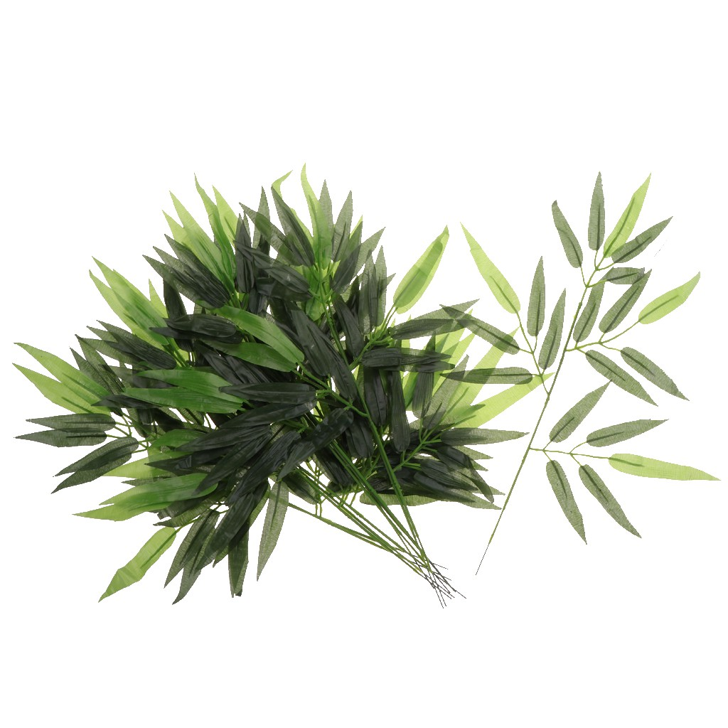 60 Leaves Foliage Decorative Greenery Plants Artificial Bamboo Branch