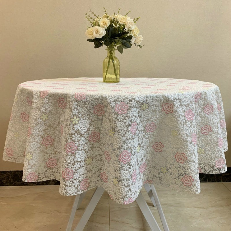 Waterproof Plastic Round Table Tablecloth Coffee Table Tablecloth Disposable Pvc Dining Tablecloth Shopee Malaysia