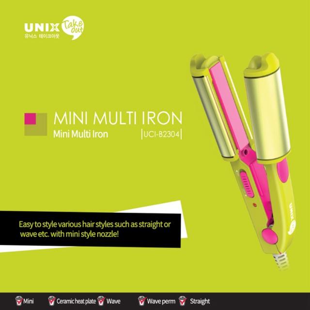 UNIX Take Out Mini Multi Iron Straightener Travel Hair Styling (Green)  b97aac9d22