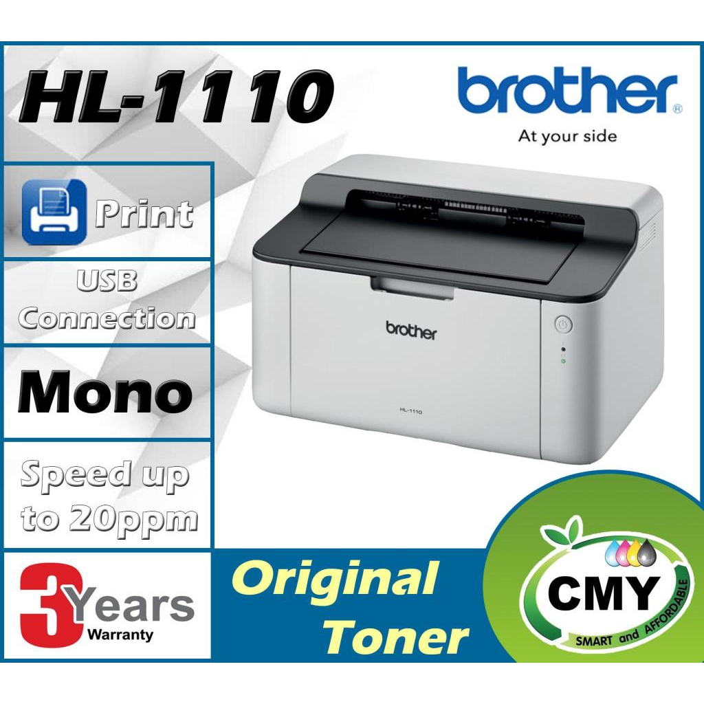 Brother HL-1110 - A4 Single-Function USB Mono Laser