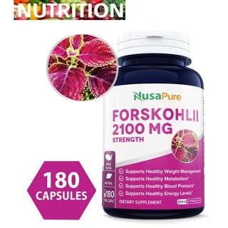 NusaPure Forskolin 2100mg Per Veggie Caps - 180 Caps (Non-GMO & Gluten  Free) Weight Loss Fuel - Belly Buster Fat Burner