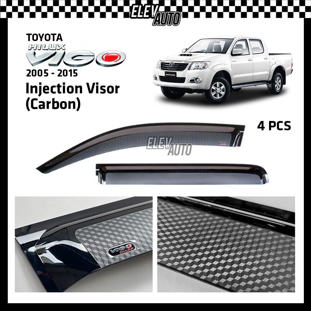 Toyota Hilux Vigo 2005-2015 CARBON Injection Door Visor