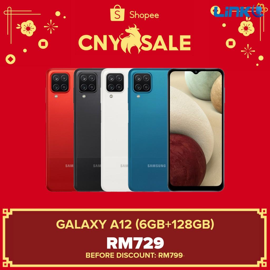 Samsung Galaxy A12 (6GB RAM + 128GB ROM) Smartphone - Original 1 Year Warranty by Samsung Malaysia