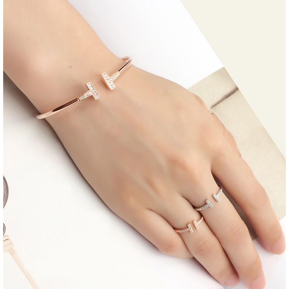 Tiffany T Wire Bracelet Ring Shopee Malaysia
